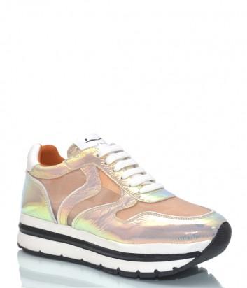 Кожаные кроссовки Voile Blanche 3506 персиковые