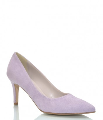 Замшевые туфли-лодочки Bottega Lotti 001 лиловые