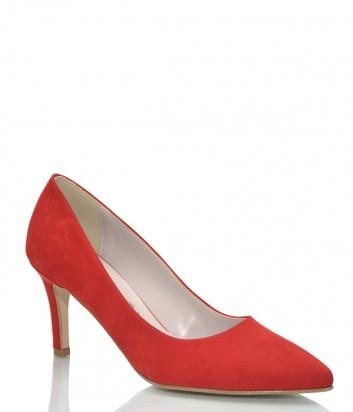 Замшевые туфли-лодочки Bottega Lotti 001 красные
