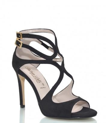 Замшевые босоножки Bottega Lotti 011 черные