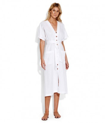 Платье Seafolly 53498-DR с пуговицами белое