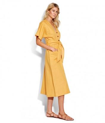 Платье Seafolly 53498-DR с пуговицами золотое