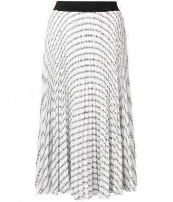 Плиссированная юбка Karl Lagerfeld 91KW1208 белая с принтом