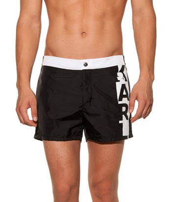 Черные шорты Karl Lagerfeld KL19MBS02 с логотипом