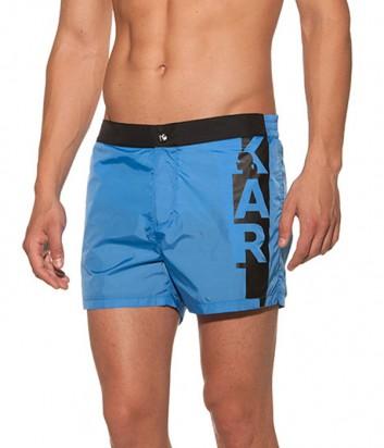 Синие шорты Karl Lagerfeld KL19MBS02 с логотипом