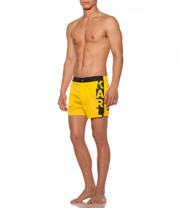 Желтые шорты Karl Lagerfeld KL19MBS02 с логотипом
