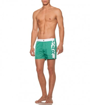 Зеленые шорты Karl Lagerfeld KL19MBS02 с логотипом