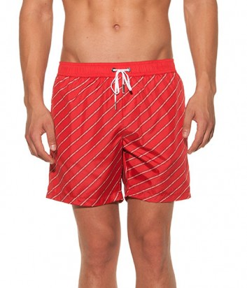 Красные шорты Karl Lagerfeld KL19MBM05 с надписями