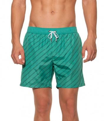 Зеленые шорты Karl Lagerfeld KL19MBM05 с надписями