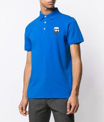 Мужское поло Karl Lagerfeld Ikonik 7550385 синее