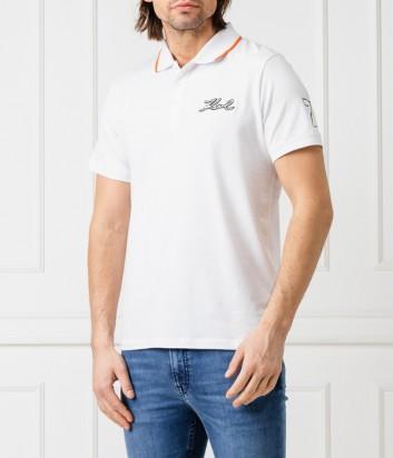 Мужское поло Karl Lagerfeld KL192M0000 белое