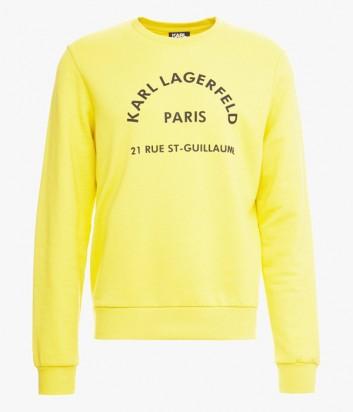 Желтый свитшот Karl Lagerfeld 705001 с надписями
