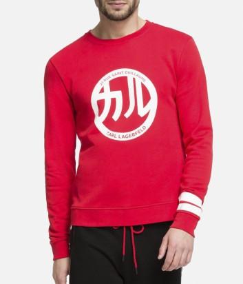 Красный свитшот Karl Lagerfeld 705508 с принтом