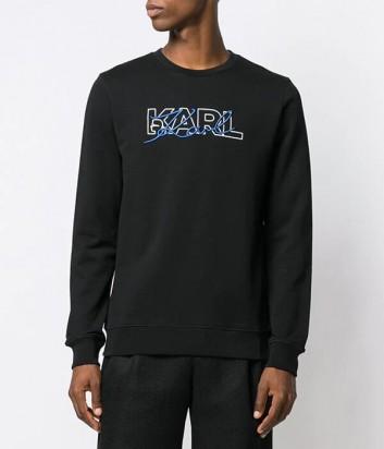 Черный свитшот Karl Lagerfeld 705041 с вышитым логотипом