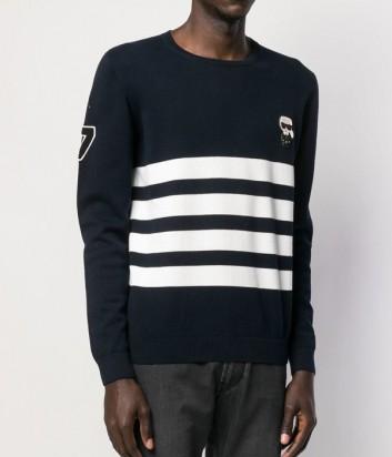 Трикотажный свитер Karl Lagerfeld KL190001 в полоску