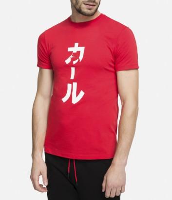 Футболка Karl Lagerfeld 90KM1707 с иероглифом красная