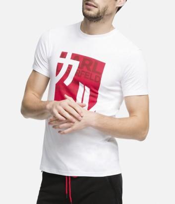 Футболка Karl Lagerfeld 90KM1701 с иероглифом белая