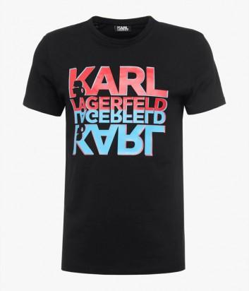 Футболка Karl Lagerfeld 755053 черная с яркими надписями