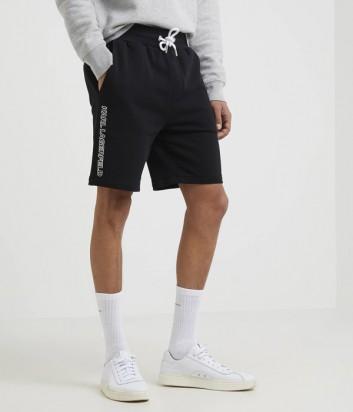 Спортивные шорты Karl Lagerfeld 705006 с логотипом черные
