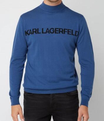 Синий гольф Karl Lagerfeld 655037 с надписью