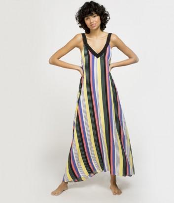 Длинное платье Gisela 22068 в цветную полоску