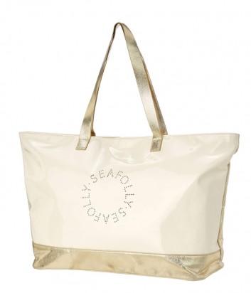 Пляжная сумка Seafolly 71475-BG бежево-золотая