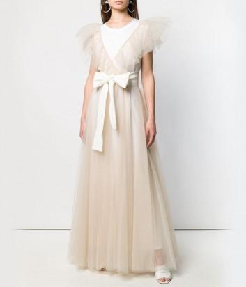 Пышное платье P.A.R.O.S.H. Nylla 722287 кремовое