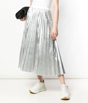 Плиссированная юбка P.A.R.O.S.H. Parkin 620554 серебристая