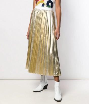 Плиссированная юбка P.A.R.O.S.H. Parkin 620554 золотая