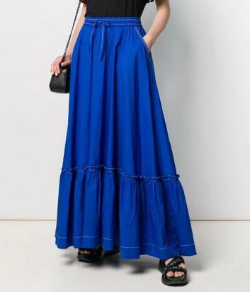 Длинная юбка P.A.R.O.S.H. Caktunix 620325 синяя