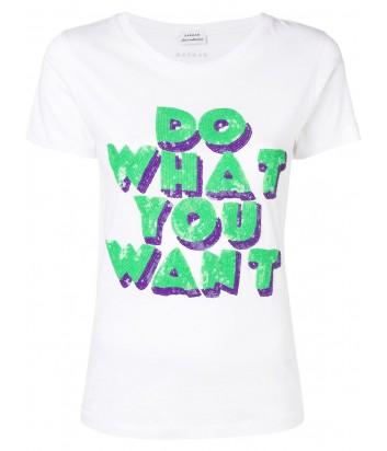 Белая футболка P.A.R.O.S.H. Cowant 110593 с надписью