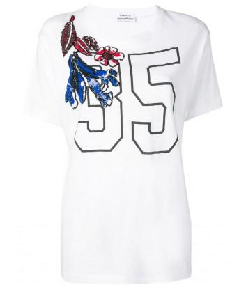 Белая футболка P.A.R.O.S.H. Cofior 110594 с принтом