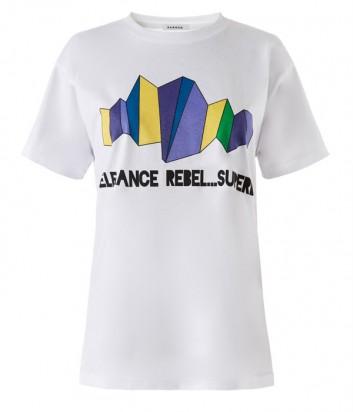 Белая футболка P.A.R.O.S.H. Coperbe 110022 с принтом