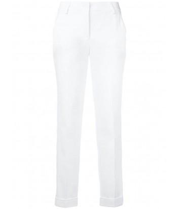 Белые брюки P.A.R.O.S.H. Cyber 230123 с коричневыми лампасами