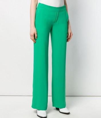 Зеленые брюки P.A.R.O.S.H. Panterya 230087 прямого кроя