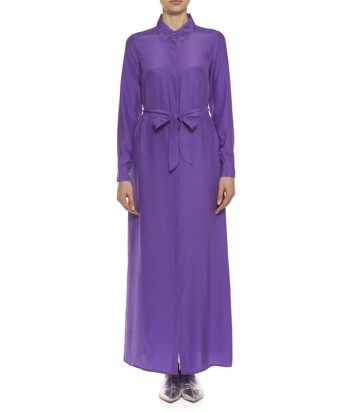 Длинное шелковое платье P.A.R.O.S.H. Softer 720672 фиолетовое