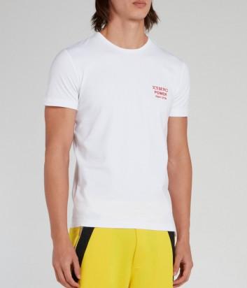 Мужская футболка ICEBERG F01J6309 белая с вышивкой