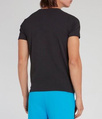 Мужская футболка ICEBERG F01J6309 черная с вышивкой