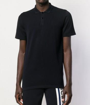 Черная рубашка-поло ICEBERG A0047633 с логотипом на спине