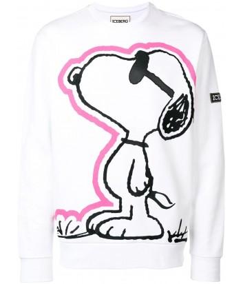 Белая толстовка ICEBERG E0566311 с принтом Snoopy