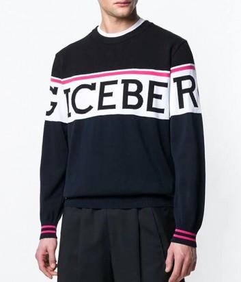 Черный свитер ICEBERG P0A0057604 с крупным логотипом