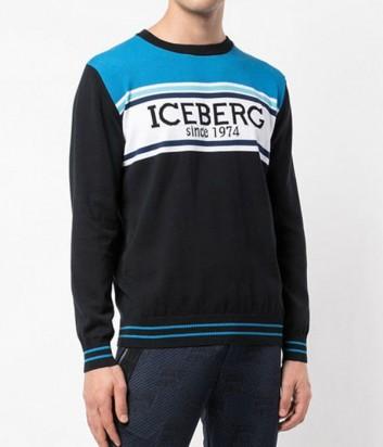 Черный свитер ICEBERG A0037604 логотипом