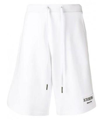 Белые шорты ICEBERG D0116311 с логотипом