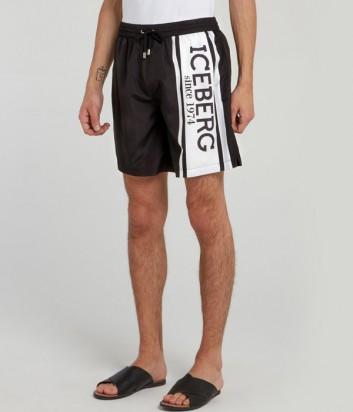 Черные шорты ICEBERG 60006910 с логотипом