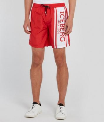 Красные шорты ICEBERG 60006910 с логотипом