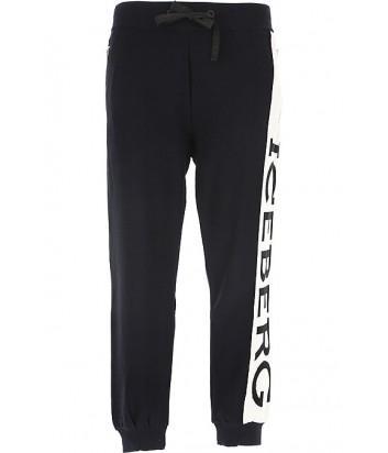 Спортивные штаны ICEBERG AB044604 черные с логотипом