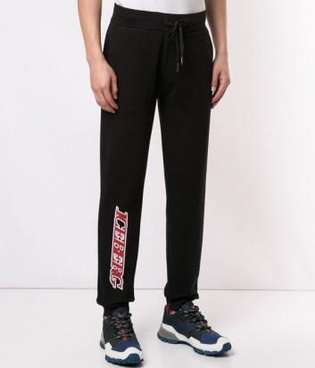 Спортивные брюки ICEBERG B01163049000 черные с логотипом
