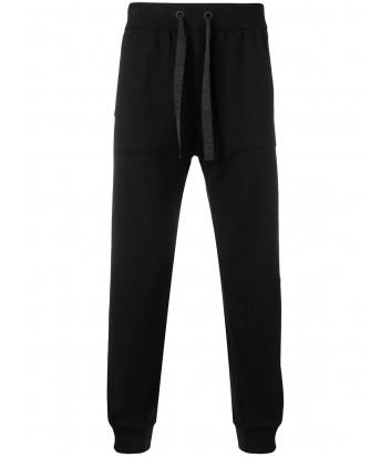 Черные спортивные брюки ICEBERG AB0276046689 с вышитым логотипом