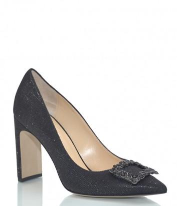 Блестящие кожаные туфли Fabio Rusconi Jico черные