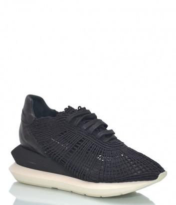 Кожаные кроссовки Paloma Barceló Mile на платформе черные